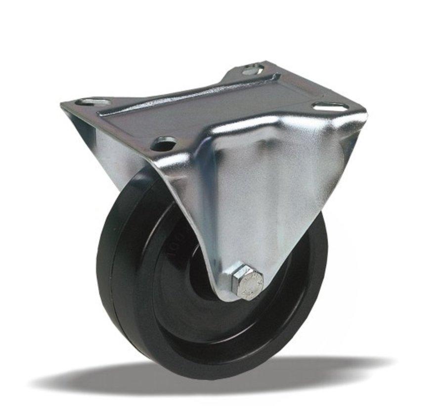 toplotno odporna fiksno kolo + toplotno odporno poliamidno kolo  Ø80 x W35mm Za  150kg Prod ID: 44916