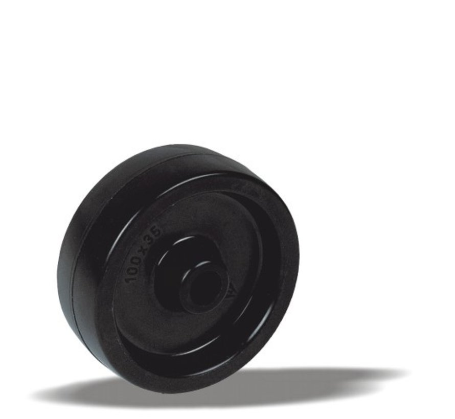 toplotno odporna kolo + toplotno odporno poliamidno kolo  Ø80 x W35mm Za  150kg Prod ID: 44906