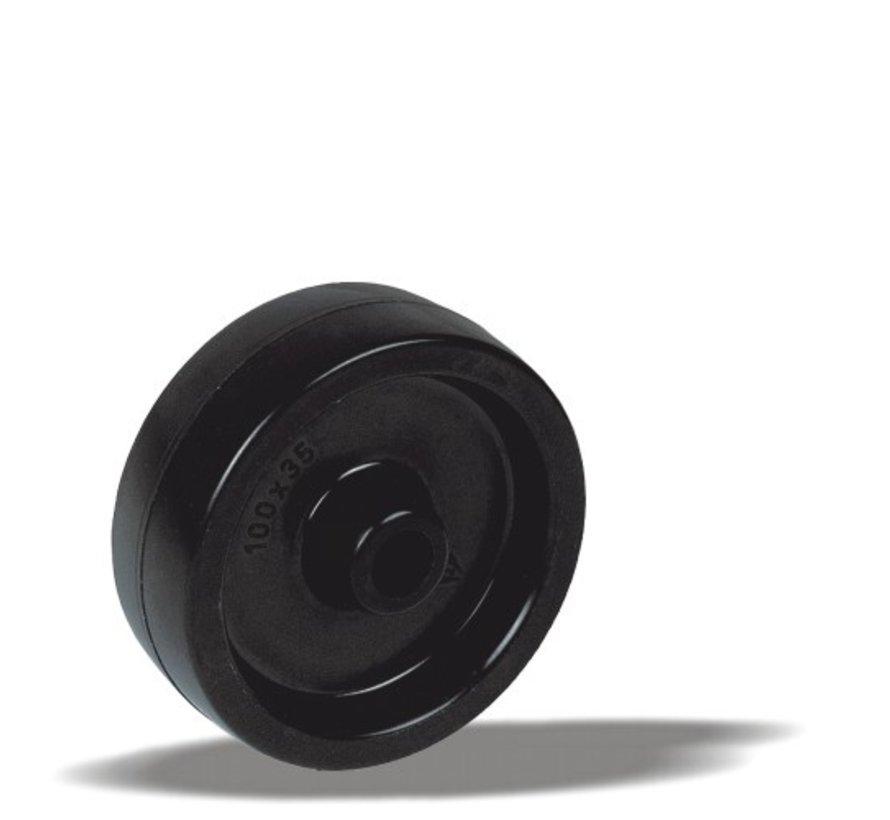 toplotno odporna kolo + toplotno odporno poliamidno kolo  Ø100 x W35mm Za  170kg Prod ID: 44907
