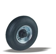 LIV SYSTEMS Transport wheel with black rubber tread Ø350 x W100mm for 300kg