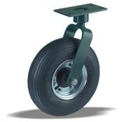 LIV SYSTEMS Swivel castor + black rubber tread Ø350 x W100mm for 300kg