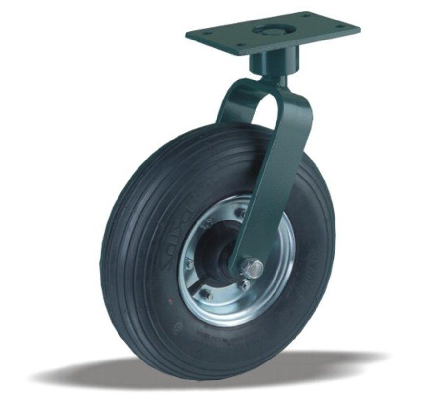 for rough floors Swivel castor + black rubber tyre Ø350 x W100mm for  300kg Prod ID: 22950