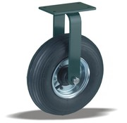 LIV SYSTEMS Fixed castor + black rubber tread Ø350 x W100mm for 300kg