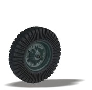 LIV SYSTEMS Transport wheel with black rubber tread Ø400 x W90mm for 150kg
