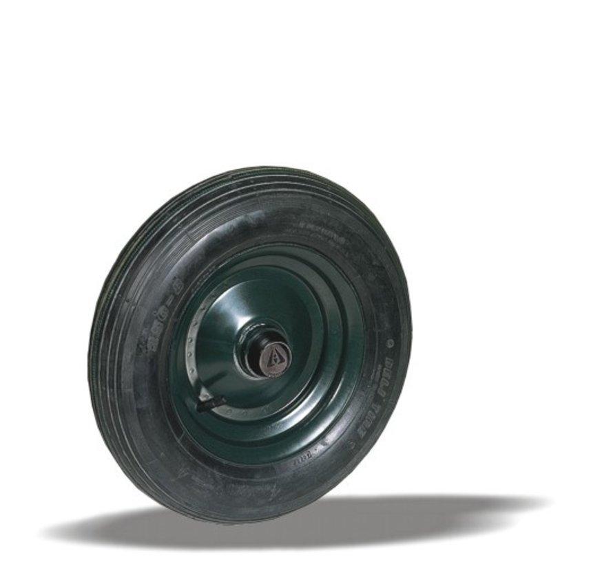 za neravna tla  kolo + pnevmatski  Ø400 x W100mm Za  150kg Prod ID: 22896