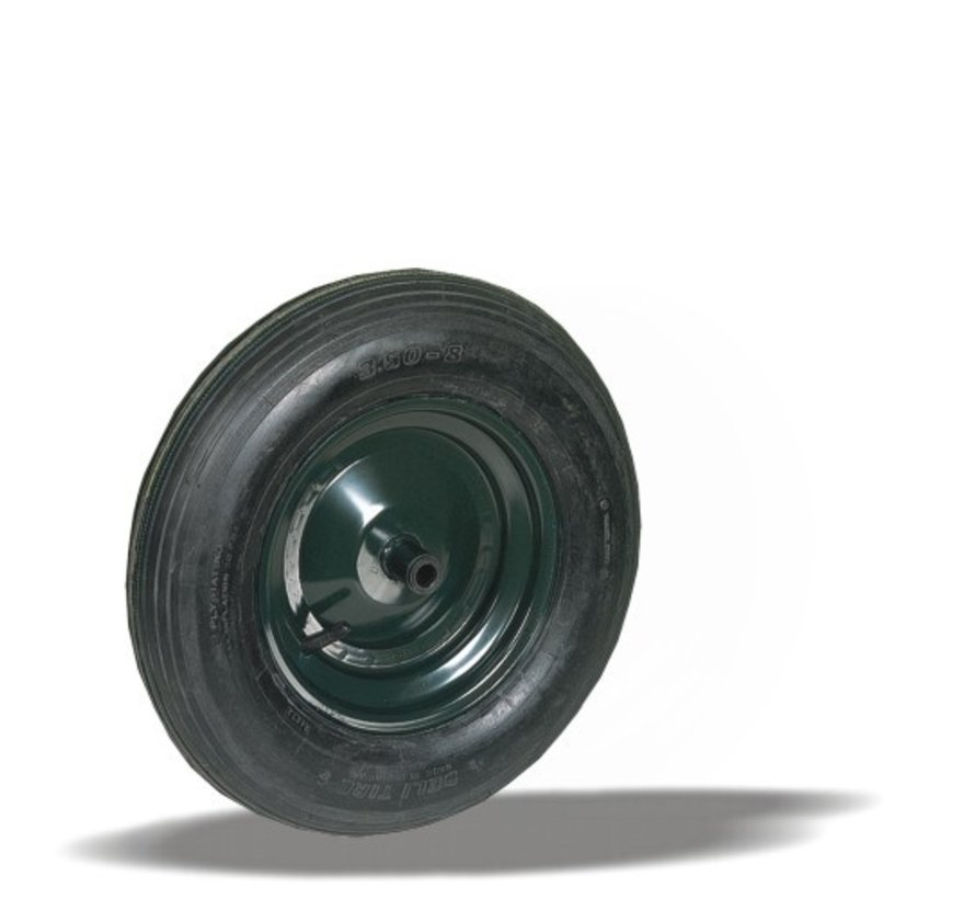 for rough floors wheel + pneumatic  Ø400 x W100mm for  150kg Prod ID: 27298