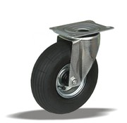 LIV SYSTEMS vrtljivo kolo + črna pnevmatika Ø220 x W65mm Za 200kg