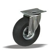 LIV SYSTEMS vrtljivo kolo + črna pnevmatika Ø260 x W85mm Za 200kg