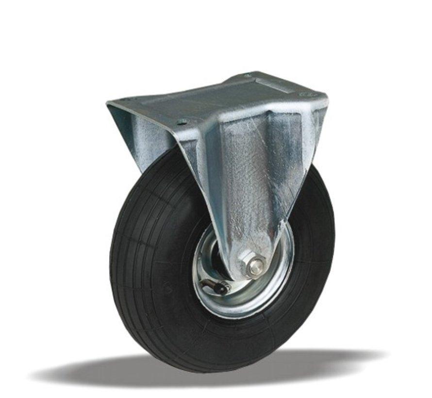 za neravna tla  fiksno kolo + črna pnevmatika Ø220 x W65mm Za  200kg Prod ID: 31873