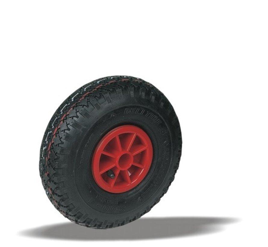 for rough floors wheel + black pneumatic  Ø260 x W85mm for  150kg Prod ID: 64102