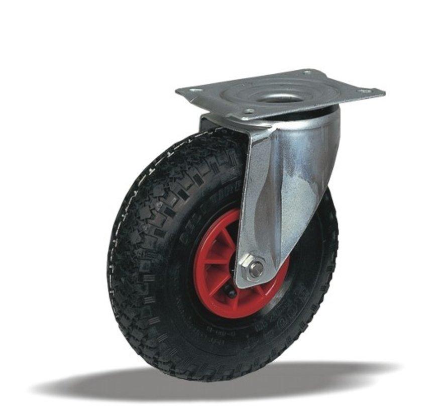 for rough floors Swivel castor + black pneumatic  Ø220 x W65mm for  150kg Prod ID: 31853