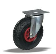 LIV SYSTEMS vrtljivo kolo + črna pnevmatika Ø260 x W85mm Za 150kg