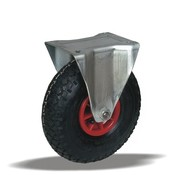 LIV SYSTEMS fiksno kolo + črna pnevmatika Ø260 x W85mm Za 150kg