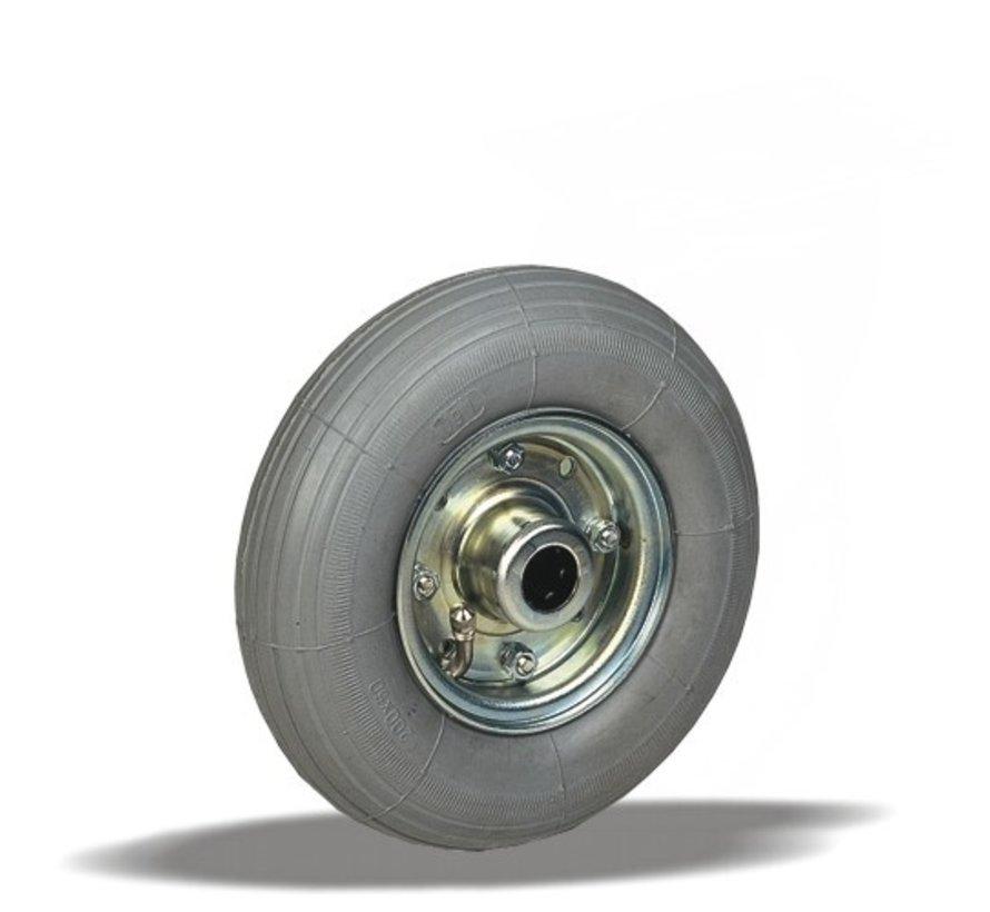 za neravna tla  kolo + siva pnevmatika Ø200 x W50mm Za  75kg Prod ID: 91044