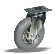 LIV SYSTEMS vrtljivo kolo + siva pnevmatika Ø200 x W50mm Za 75kg