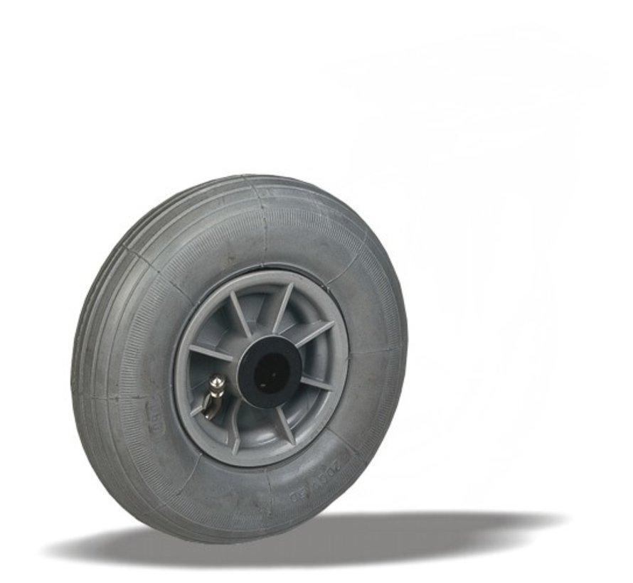 za neravna tla  kolo + siva pnevmatika Ø200 x W50mm Za  60kg Prod ID: 64097