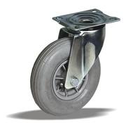 LIV SYSTEMS vrtljivo kolo + siva pnevmatika Ø200 x W50mm Za 60kg