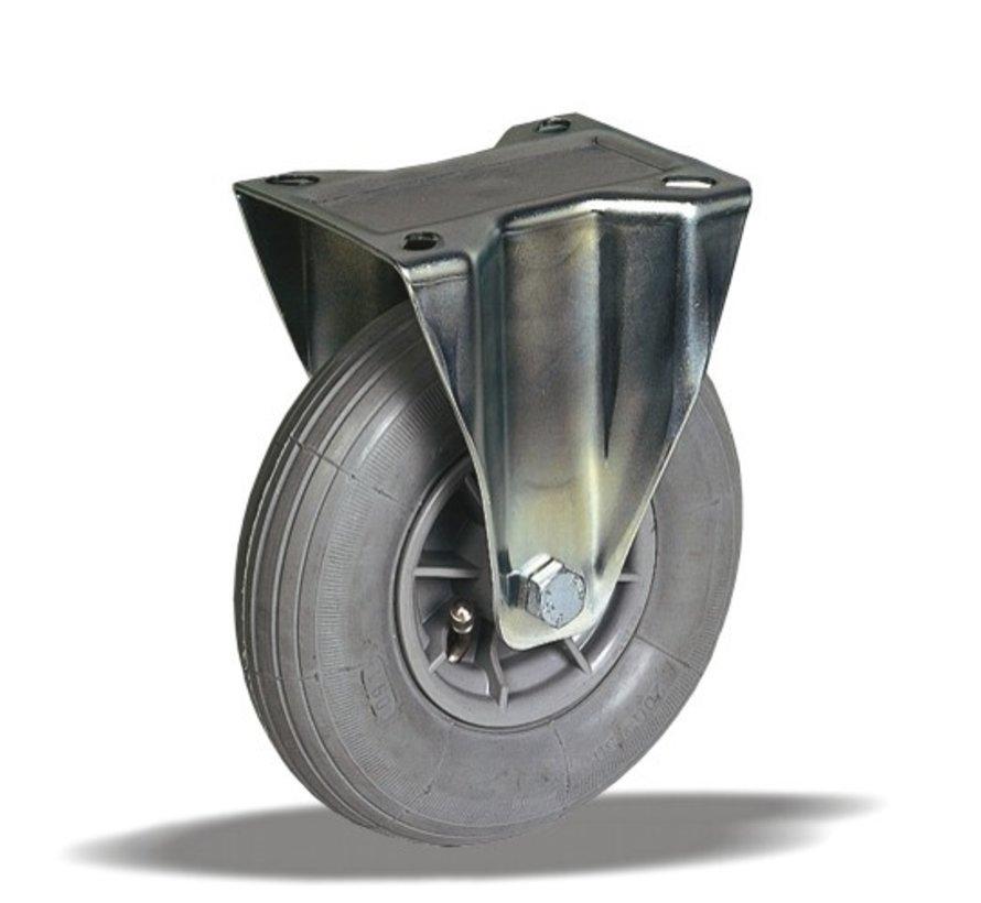 za neravna tla  fiksno kolo + siva pnevmatika Ø200 x W50mm Za  60kg Prod ID: 32703
