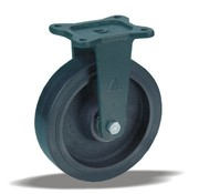 LIV SYSTEMS Fixed castor + injection-moulded polyurethane tread Ø200 x W50mm for 1000kg