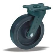 LIV SYSTEMS Swivel castor + black rubber tread Ø160 x W50mm for 400kg