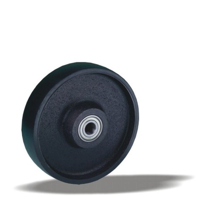 heavy duty wheel + solid cast iron wheel Ø200 x W50mm for  1100kg Prod ID: 35555