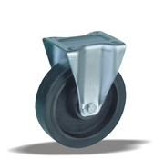 LIV SYSTEMS Fixed castor + injection-moulded polyurethane tread Ø160 x W50mm for 600kg