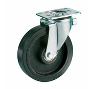 LIV SYSTEMS Swivel castor + black rubber tread Ø200 x W50mm for 600kg