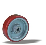 LIV SYSTEMS Transport wheel with injection-moulded polyurethane tread Ø125 x W40mm for 300kg