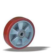 LIV SYSTEMS Transport wheel with injection-moulded polyurethane tread Ø160 x W50mm for 600kg