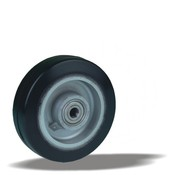 LIV SYSTEMS Transport wheel with black rubber tread Ø125 x W40mm for 200kg