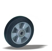 LIV SYSTEMS Transport wheel with black rubber tread Ø200 x W50mm for 500kg