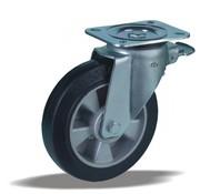 LIV SYSTEMS vrtljivo kolo z zavoro + črna guma Ø200 x W50mm Za 500kg
