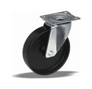 LIV SYSTEMS Swivel castor + solid polyamide wheel Ø125 x W38mm for 250kg