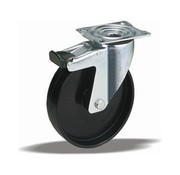 LIV SYSTEMS Swivel castor with brake + solid polyamide wheel Ø125 x W38mm for 250kg