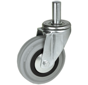 LIV SYSTEMS vrtljivo kolo + siva guma Ø100 x W32mm Za 80kg