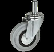 LIV SYSTEMS vrtljivo kolo + siva guma Ø200 x W50mm Za 230kg