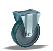 LIV SYSTEMS Fixed castor + injection-moulded polyurethane tread Ø160 x W50mm for 400kg