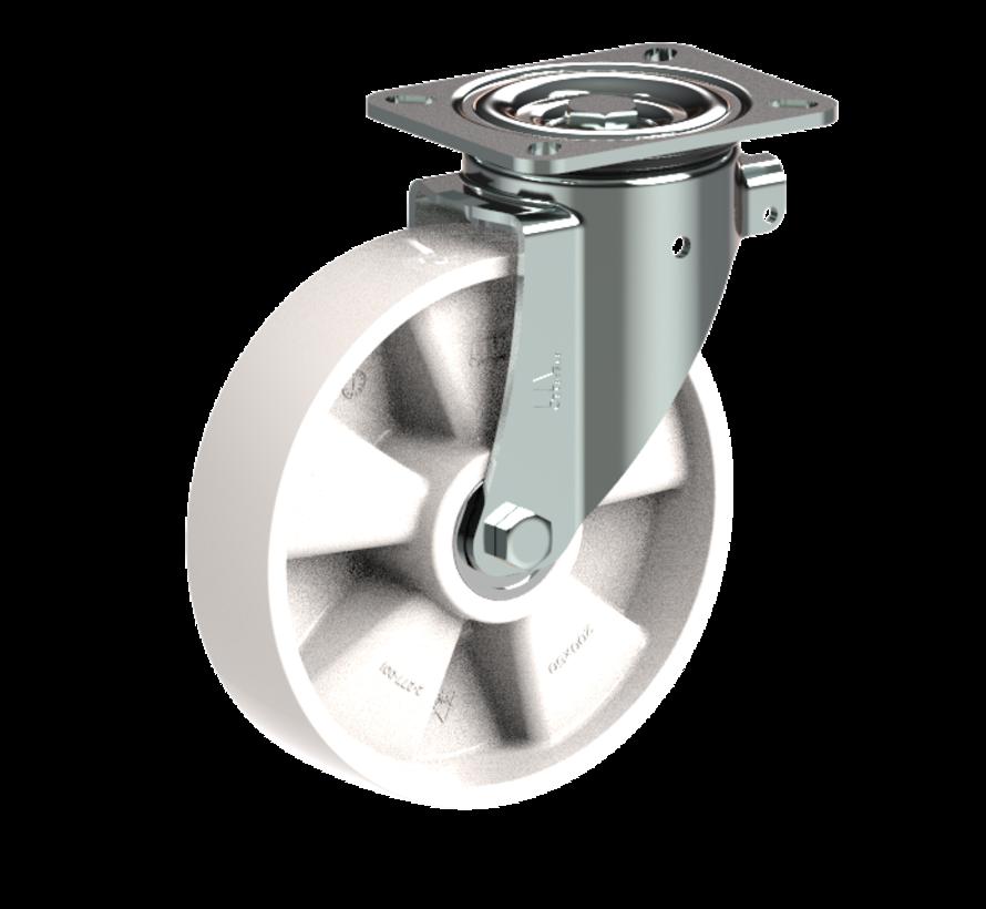 za težje delovne pogoje vrtljivo kolo  + trdno poliamidno kolo Ø200 x W50mm Za  500kg Prod ID: 31793