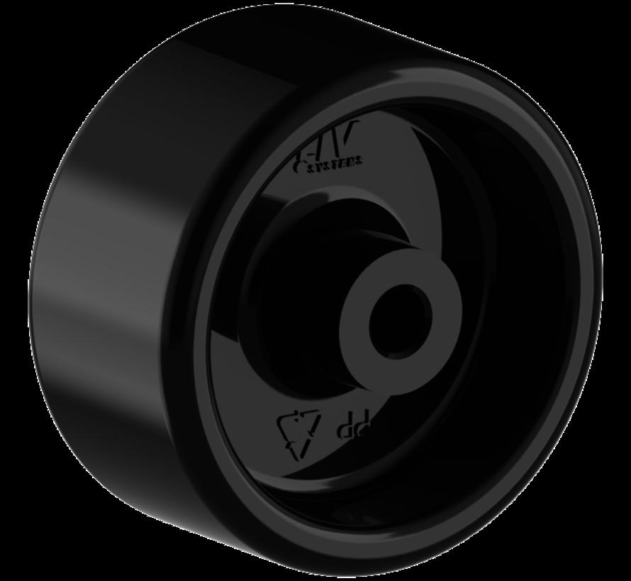 furniture wheel + solid polypropylene wheel Ø50 x W25mm for  50kg Prod ID: 32533