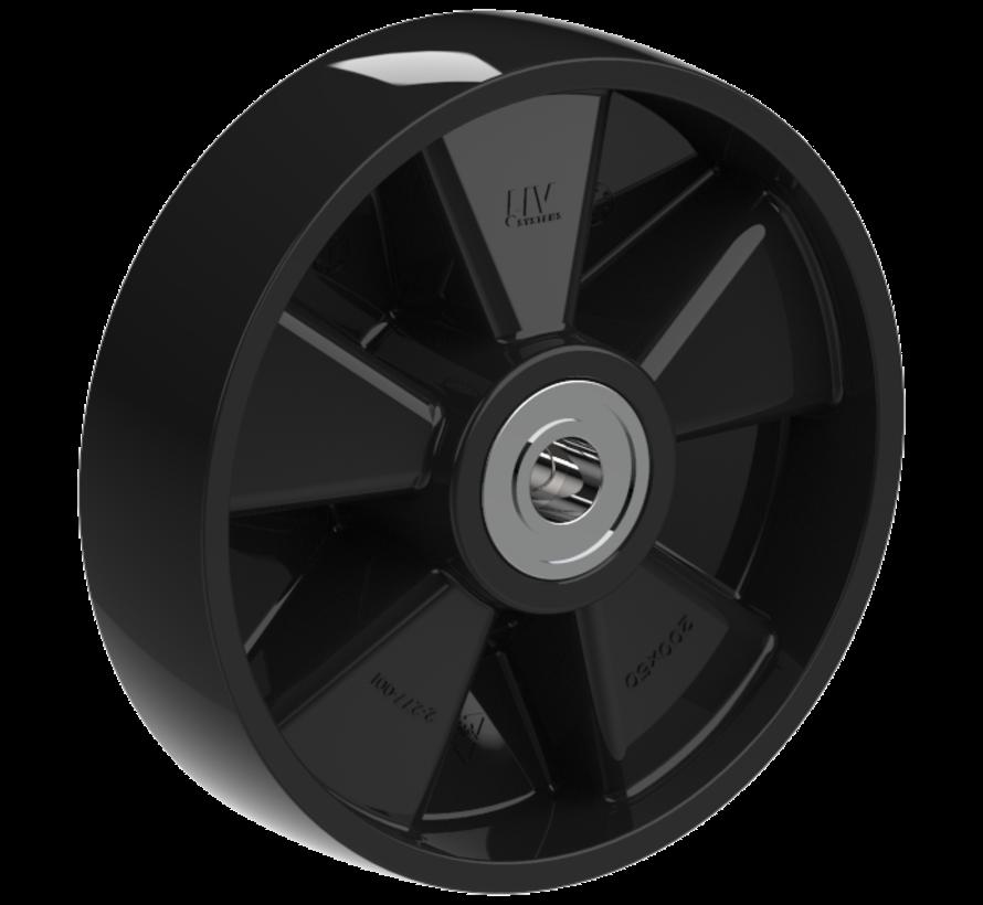 heavy duty wheel + solid polyamide wheel Ø200 x W50mm for  500kg Prod ID: 35603
