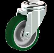 LIV SYSTEMS Swivel castor + injection-moulded polyurethane tread Ø100 x W32mm for 150kg