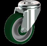 LIV SYSTEMS vrtljivo kolo + brizgana poliuretanska obloga Ø100 x W32mm Za 150kg
