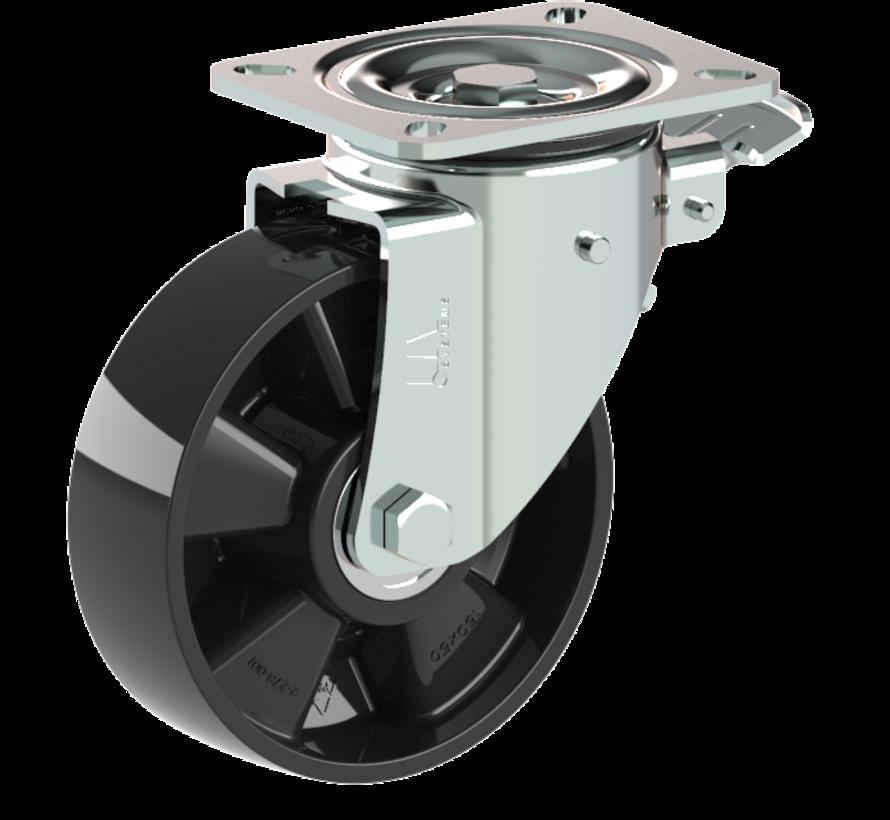 za težje delovne pogoje vrtljivo kolo z zavoro + trdno poliamidno kolo Ø160 x W50mm Za  400kg Prod ID: 42565