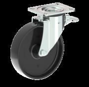 LIV SYSTEMS Swivel castor with brake + solid polyamide wheel Ø200 x W50mm for 500kg