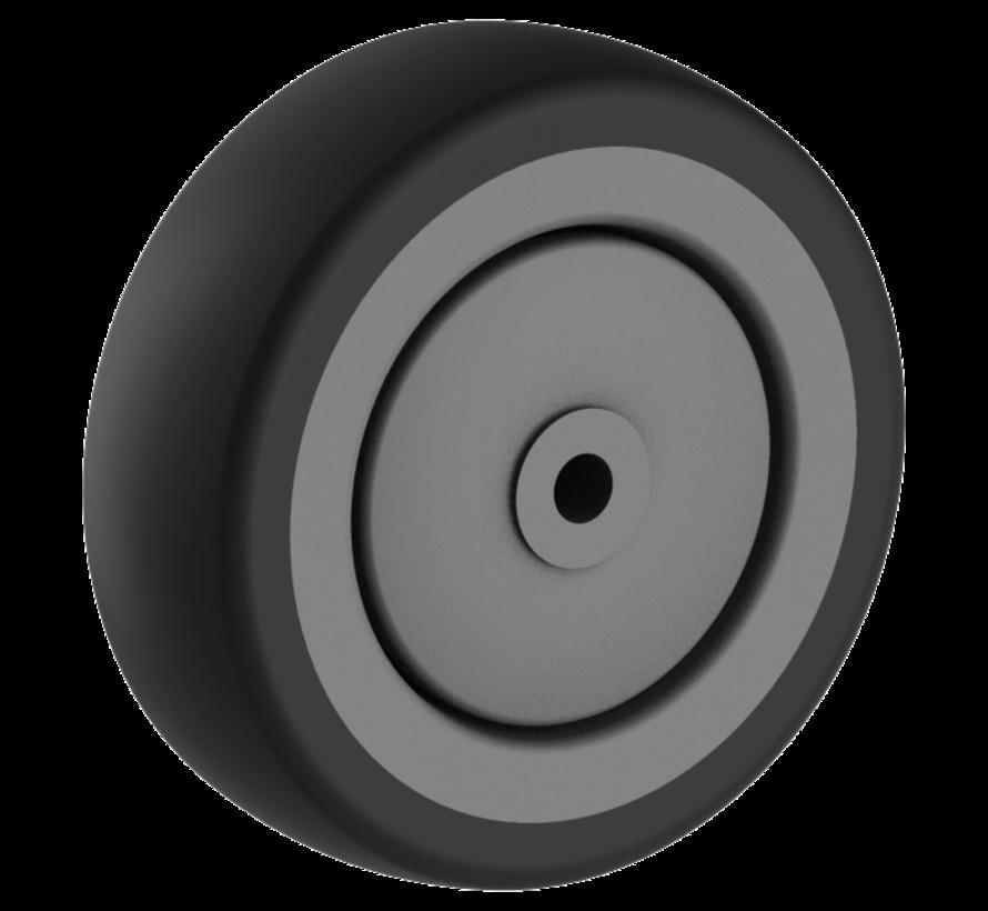 institutianal wheel + solid polypropylene wheel Ø100 x W30mm for  85kg Prod ID: 44803