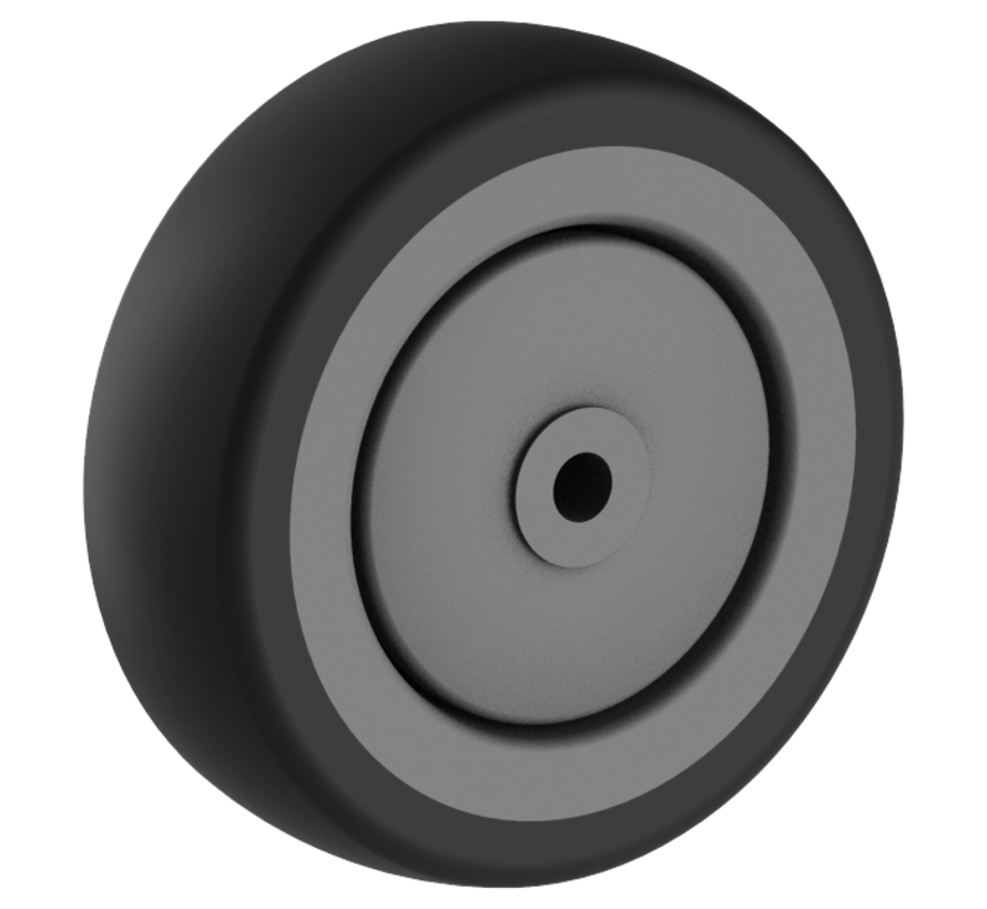 za ustanove kolo + trdno polipropilensko kolo Ø100 x W30mm Za  85kg Prod ID: 44803