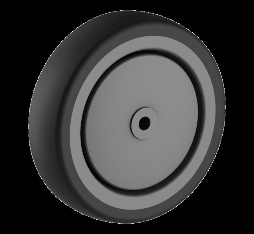 za ustanove kolo + trdno polipropilensko kolo Ø125 x W32mm Za  100kg Prod ID: 44804