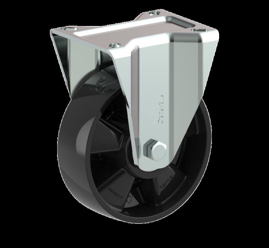heavy duty Fixed  castor + solid polyamide wheel Ø160 x W50mm for  400kg Prod ID: 54622