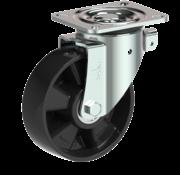 LIV SYSTEMS Swivel castor + solid polyamide wheel Ø160 x W50mm for 400kg