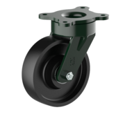 LIV SYSTEMS Swivel castor + solid cast iron wheel Ø160 x W50mm for 900kg